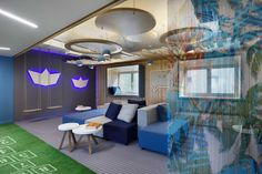 Inspirational company employee relax room for Beta CAE Systems Thessaloniki, Greee