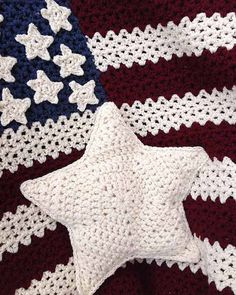Picture of Americana Afghan, Pillow & Wall Hanging Crochet Pattern