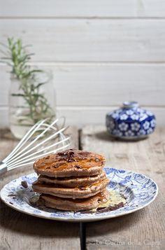 pancakes con farina di castagne e cioccolato