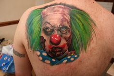 Zombie clown done by Roy at Skinshokz.