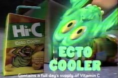 Hi-C Ecto Cooler TV advert 1989 Hot Coffee, Iced Coffee, Coffee Drinks, Capri Sun, Tv Adverts, Blue Cocktails, Citrus Juice, Blue Curacao, It's Going Down