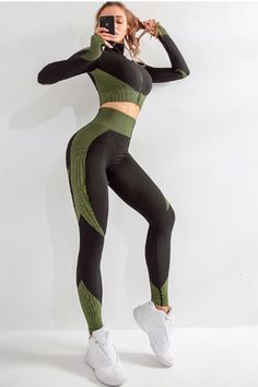 Sport Suit Woman Seamless Running Tracksuit Sportswear Gym 2 Piece Set Price: $SALEPRICE & FREE Shipping!!! {Like and share!Tag a friend who would love this! Fashion and Beauty!!! 😀Sport Suit Woman Seamless Running Tracksuit Sportswear Gym 2 Piece Set $SALEPRICE and FREE Shipping #HASHTAGUS#apparel #instagood #style #simplyfashion #simplicity} #hashtag1love Crop Top And Leggings, Gym Leggings, Lycra Leggings, Running Leggings, Workout Wear, Workout Pants, Sexy Workout Clothes, Fitness Pants, Sport Outfits