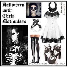 Halloween with Chris Motionless by imagine-bands on Polyvore featuring tabbisocks, Iron Fist, Sheeva and My Enemy