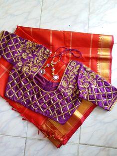 Embroidery Blouses, Aari Embroidery, Embroidery Designs, South Indian Blouse Designs, Silk Saree Blouse Designs, House Of Blouse, Zardosi Work, Modern Saree, Maggam Works