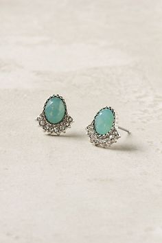 Skirted Sparkle Post Earrings- $32.00 Anthropology.