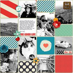The Good Life - Enjoy Today Pennysaver Items by Amanda Yi Designs #scrapbook #projectlife