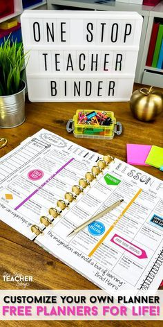 Teacher binder organization just got better! With FREE UPDATES for LIFE, this One Stop Teacher Binder has everything you need for classroom organization. This teacher planner has lesson plan templates, 75+ planner covers to choose from, tons of classroom forms, calendars, and more! Love that it is EDITABLE with FREE updates for LIFE! Created by a teacher, for teachers!
