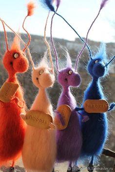 Needle Felted Animals, Felt Animals, Needle Felting, Felt Crafts Patterns, Fabric Crafts, Diy Crafts, Felt Fairy, Felting Tutorials, Felt Toys