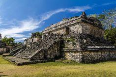 Temple maya de Ek Balam au Mexique