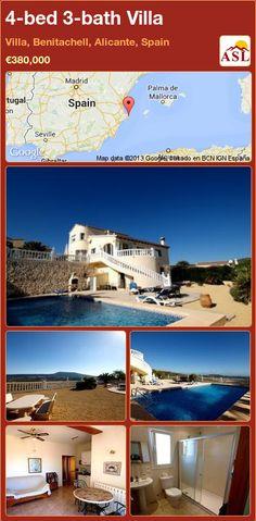 4-bed 3-bath Villa in Villa, Benitachell, Alicante, Spain ►€380,000 #PropertyForSaleInSpain