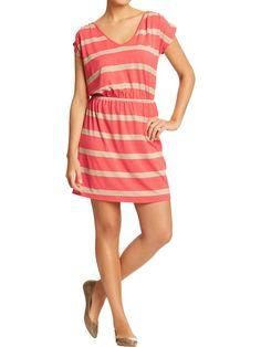 Womens V-Neck Jersey Dress