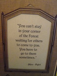 Vintage Easel Back Winnie the Pooh Quote Cute Quotes, Great Quotes, Words Quotes, Wise Words, Inspirational Quotes, Sayings, Tao Of Pooh, Children's Book Characters, Mottos To Live By