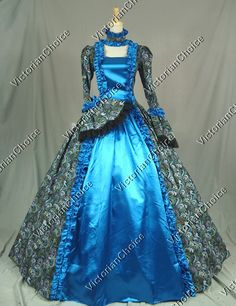 Victorian Era Ball Gowns | Victorian Gothic Cosplay Satin Dress Ball Gown Prom…