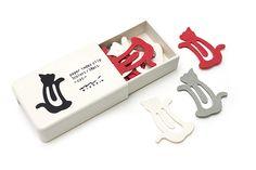 Midori Index Clip - Cat - 3 Colors - Pack of 18 - MIDORI 231140