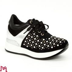 Pantofi Sport cu Platforma M8XX1650-20 Black Fashion&Bella