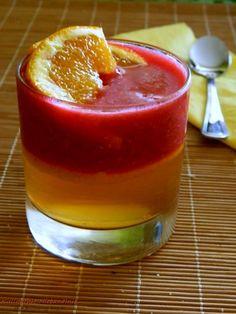 Pyszny deser pomarańczowo – malinowy