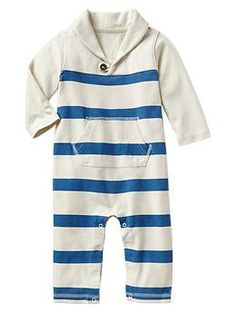 Striped shawl one-piece   Gap 3-6 months