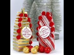 """A Little Something, Holidays Fancy Foil DSP, Winter Wonderland Vellum DSP Stack, 1-3/8"""" Circle & 1-1/2"""" Circle punches, Gold & Red Foil, Real Red Pompom Trim, Silver & Gold Cording Trim, Mini Metallic Clothespins - Pootles Advent Countdown #18 Tall Foiled Vellum Milk Carton Tutorial"""