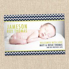 printable custom baby birth announcement