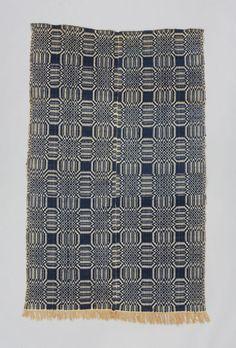 wool + cotton   double weave   214 cm x 100 cm   Virginia, U.S.A.   c. 1825-'50