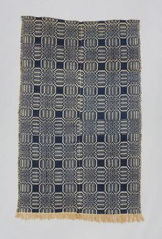 wool + cotton | overshot coverlet / Canada / c. 1850 - 1900