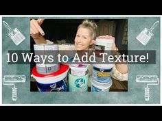 10 façons d'ajouter de la texture à la peinture à la craie: Peinture à la craie 101 - YouTube Blue Painted Furniture, Annie Sloan Paints, Question And Answer, Texture, Facon, Chalk Paint, Ads, Youtube, Crafts