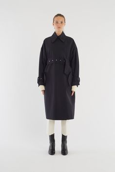 Oversized Exaggerated Trench - MIDNIGHT - 1