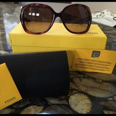 Authentic FENDI SUNGLASSES! MINT CONDITION!  Comes with case, box, authenticity cards and wipe!  ❤️ FENDI Accessories Sunglasses