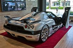 Wish I had seen this baby while she lived in SA :( 1 of 3 Koenigsegg CCXR Trevita's in the world