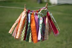 Rag skirt/tutu.  Incredibly fast and easy.  Every granddaughter needs at least one!