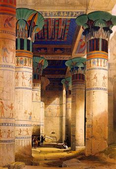 "necspenecmetu: "" David Roberts, The Portico of the Temple of Isis at Philae, 1851 """