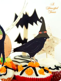 Halloween Cupcake Toppers Free Printables