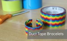 Duck tape bracelets how-to video via makeandtakes.com
