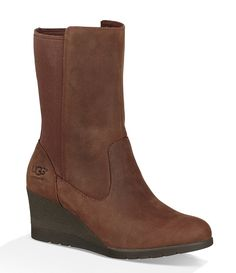 Stay stylish, cozy, and ready for adventure with Ugg women's shoes. Shop Dillard's and discover the bestselling Ugg boots, slippers, booties and more women's shoe styles for year-round comfort. Brown Wedge Boots, Knee High Wedge Boots, Black Boots, Ugg Boots With Bows, Ugg Boots Cheap, Uggs, Boots 2017, Church Fashion, Coraline