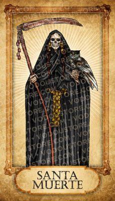 Prayer Card - Santa Muerte (Negra)