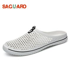 SAGUARO 2018 Summer Slippers Men Hollow Out Breathable Beach Flip Flops Unisex Casual Slip-on Flats Sandals Men Shoes zapatos //Price: $13.00 & FREE Shipping //     #fashion