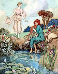 Art by Warwick Goble (c 1913) from THE FAIRY BOOK: The Best Popular Fairy Stories.  Source:  http://archive.org/details/fairybookbestpop00crai02