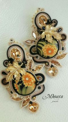 Soutache Jewelry by Mhoara #earrings #soutache #mhoarajewels