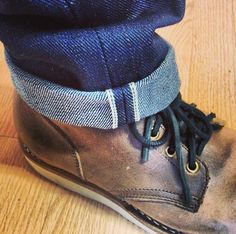Cuffed jeans and boots. Cuffed Jeans, Jeans And Boots, Mens Boot, Raw Denim, What To Wear, Menswear, News, Accessories, Clothes