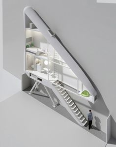 the skinniest house in the world? being built in Warsaw, Poland. Width varies from inches) to feet). It will be the narrowest house in Warsaw. Architecture Design, Building Architecture, Chinese Architecture, Narrow House, Unusual Homes, Compact Living, Design Case, Interiores Design, Apartment Therapy