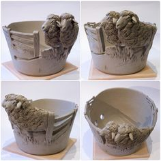 Sheep yarn bowl. Just finished today. Made to order at earthwoolfire.etsy.com