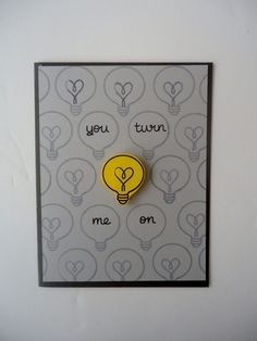 You turn me on card love anniversary funny and cute handmade glowb . , You make me on card Love Anniversary Funny and Cute Handmade Light Bulb Heart Card for Boyfriend Girlfriend Husband Wife! from JustforUnotes. Handmade Gifts For Boyfriend, Boyfriend Gifts, Boyfriend Girlfriend, Boyfriend Notes, Scrap Book For Boyfriend, Girlfriend Surprises, Funny Girlfriend, Funny Boyfriend, Anniversary Funny