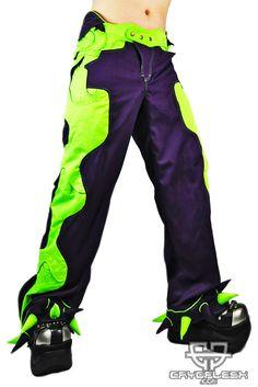 Organic Pants Purple/UV Green