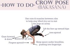 How to do Crow Pose. Ugh I eat crow every time I try this