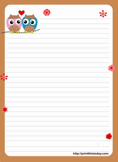 8 Best Images of Printable Love Letter Stationery - Free Printable Stationery Paper with Lines, Love Letter Stationery and Free Printable Love Stationery Paper Letter Stationery, Stationery Printing, Stationery Paper, Stationery Design, Owl Writing, Cute Writing, Writing Papers, Writing Letters, Printable Lined Paper