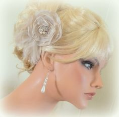 BRIDAL FASCINATOR Silk  feathers and lace pearls by kathyjohnson3, $38.00
