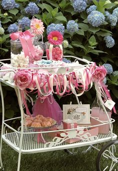 tea cart with sweets - Celebrations At Home blog. We have everything for this. Great ideas on this site.