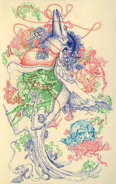 I love James Jean and his weird, little, colorful ink drawings