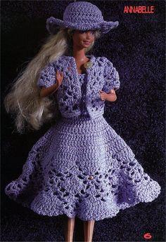 robe au crochet pour barbie