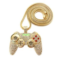 Gold Iced Out PS3 MW3 Modern Warfare 3 Call of Duty Game Controller Pendant With a 36 Inch Franco Necklace Chain - http://www.psbeyond.com/view/gold-iced-out-ps3-mw3-modern-warfare-3-call-of-duty-game-controller-pendant-with-a-36-inch-franco-necklace-chain - http://ecx.images-amazon.com/images/I/51jRrSPzbkL.jpg